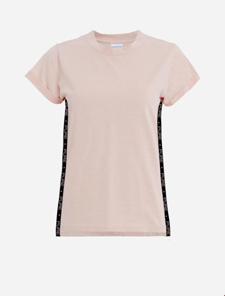 purewhite t-shirt old pink striped