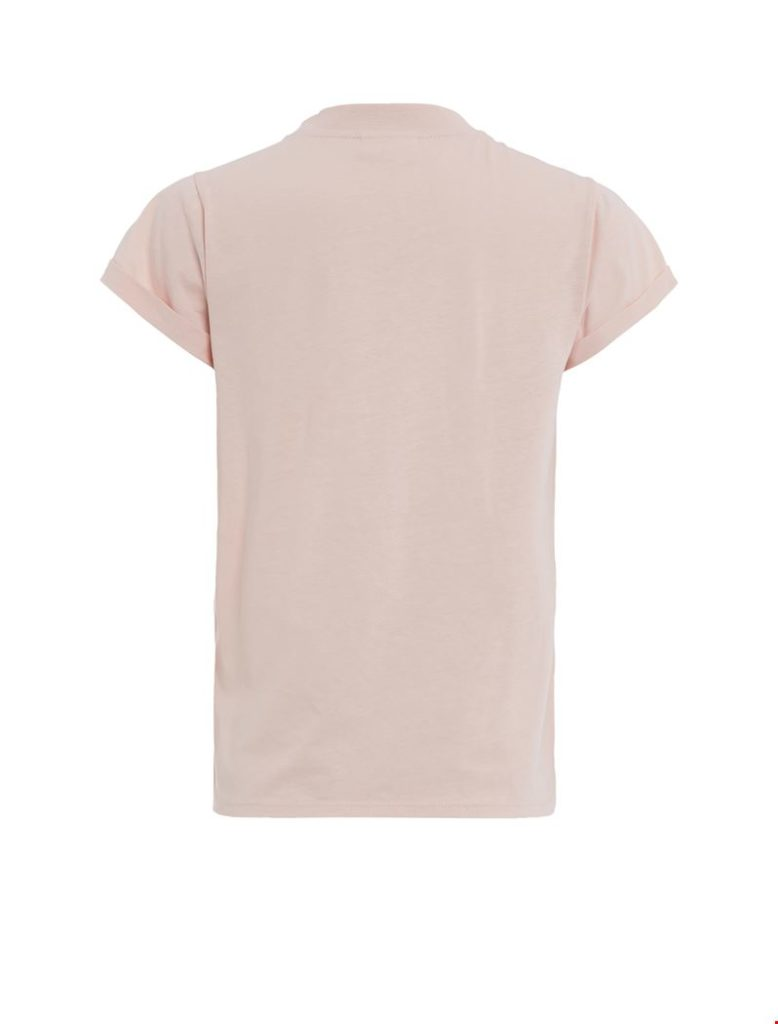 purewhite t-shirt old pink striped back
