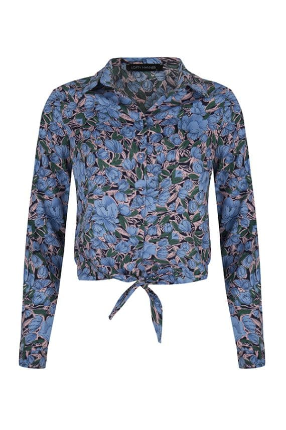 lofty manner blouse nolan blauw