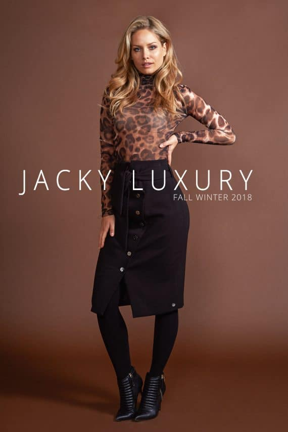 jacky luxury turtle neck mesh top