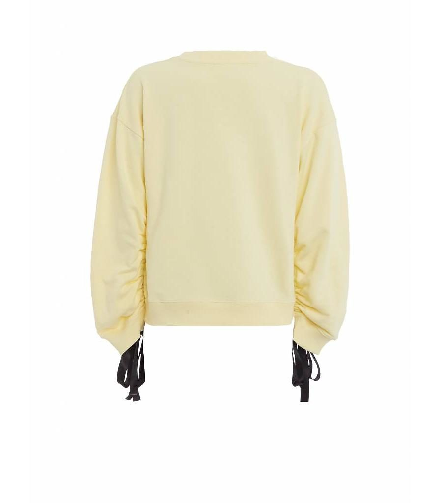 purewhite-womans-wrinkled-sleeve-sweater-yellow-2