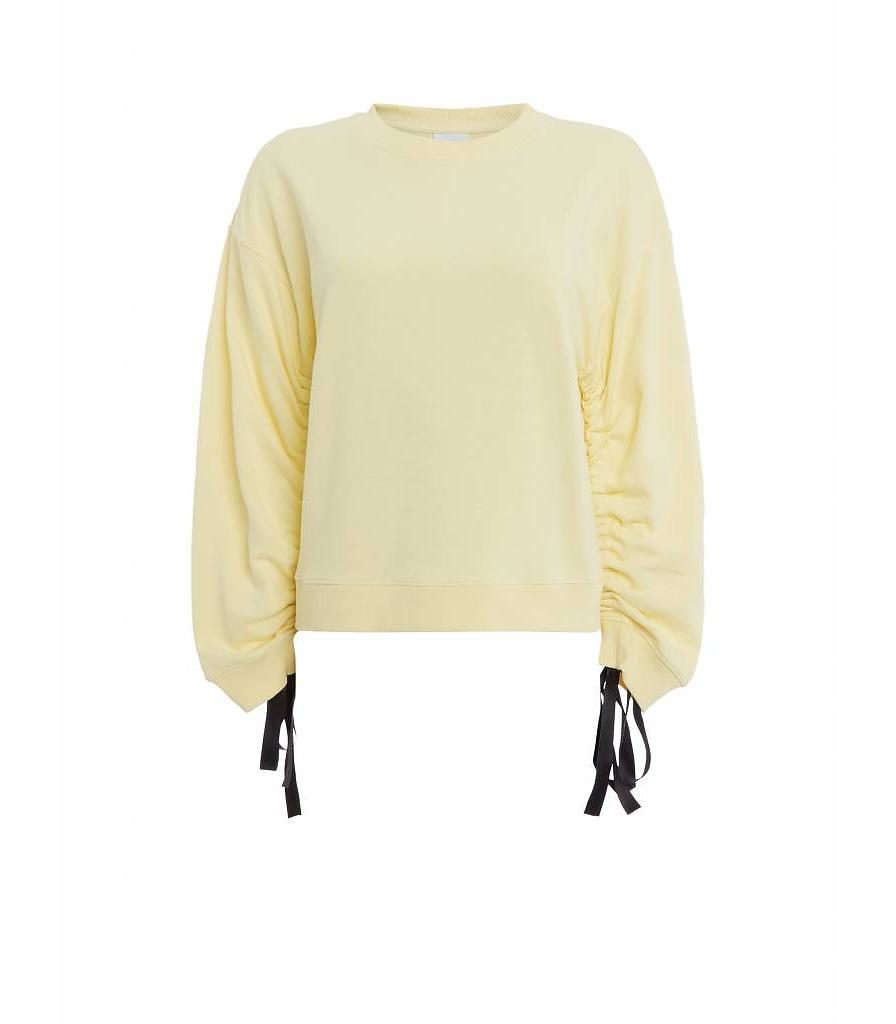 purewhite-womans-wrinkled-sleeve-sweater-yellow